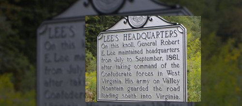 Lee's Headquarters Historical Marker